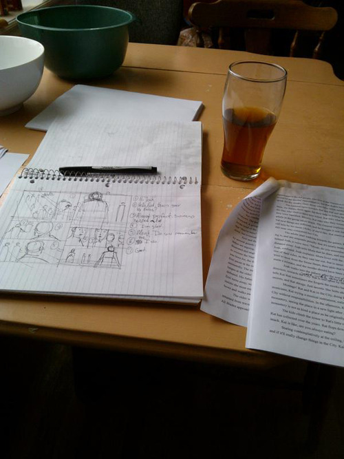 Making comics with Faith Erin Hicks - working on Nameless City script