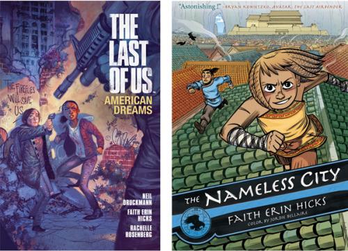 Covers of Faith Erin Hicks publications